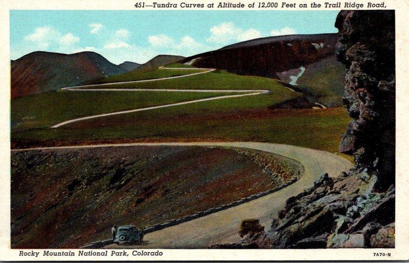 Colorado Rocky Mountains Tundra Curves On The Trail Ridge Roads