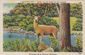 Michigan Greetings From Allegan 1947