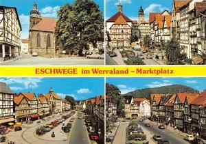 GG11399 Eschwege im Werratal Marktplatz Kirche, Auto Cars Church