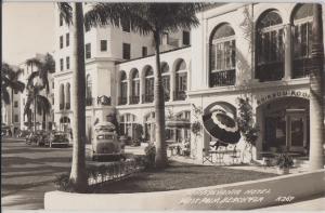 WEST PALM BEACH - PENNSYLVANIA HOTEL 1940s era REAL PHOTO / DEMOLISHED