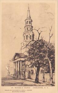 Saint Michael's Church Charleston South Carolina Albertype