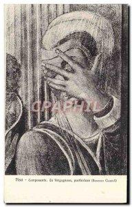 Postcard Old Pisa Camposanto The Vergognosa Particolare Benozzo Gozzoli