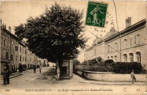 CPA  Saint-Marcellin - Les Écoles Communales et le Boulevard Gambetta  (653006)