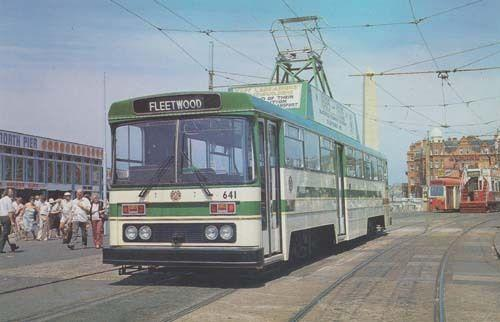 Fleetwood 641 Blackpool All New Tram Advertising At Pier Bus Photo Postcard