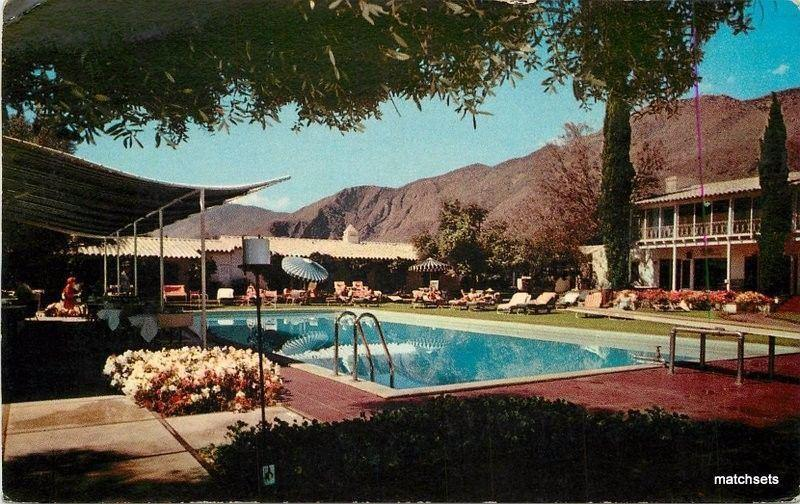 1950s Howard Manor Margolis Pool Palm Springs California postcard 2489
