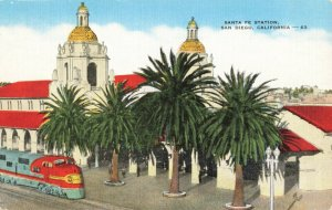 Postcard Santa Fe Station San Diego California