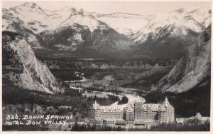 Banff Springs Hotel, Bow Valley, Banff, Alberta, Canada, Early Postcard, Unused