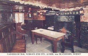 Nr BLANDFORD , Dorset , England , 1950-60s ; Farmhouse Bar , World's End Inn ...