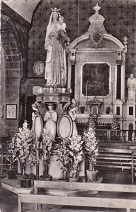France La Flocelliere Interieur de la Chapelle de Lorette 1955 Real Photo