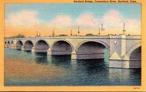 Connecticut Hartford The Hartford Bridge Over Connecticut River 1947 Curteich
