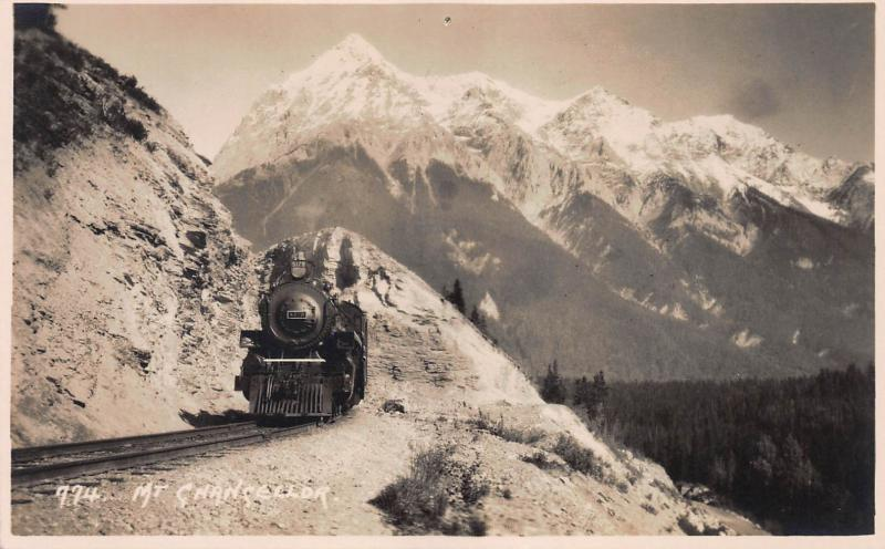 Mount Chancellor, Along the Canadian Pacific Railway, Early Postcard, Unused