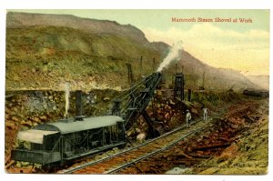 Panama - Canal Zone. Culebra, Steam Shovel Digging the Canal