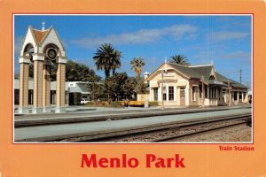 USA Postcard, 1988 Menlo Park Train Railway Station, California GG0