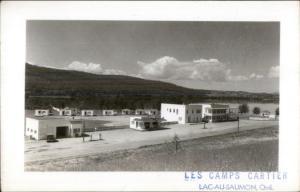 Lac-Au-Saumon Quebec Les Camps Cartier Real Photo Postcard