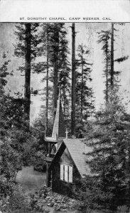 St. Dorothy Chapel, Camp Meeker, California Sonoma County 1910 Vintage Postcard