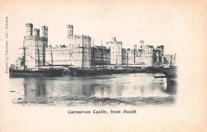 Carnarvon Castle, From South, Wales, Great Britain, Very Early Postcard, Unused