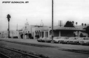 Glendale California 1971 Southern Pacific train depot real photo pc Z49839