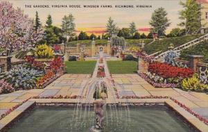 Virginia Richmond The Gardens Virginia House Windsor Farms 1943