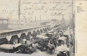 BALTIMORE , Maryland, 1907 ; Light Street Wharf