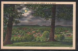 North Carolina colour Panoramic Night View Lenoir, N.C unused