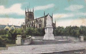 Victoria Monument & Parish Church, Blackburn, Lancashire, England, UK, 1900-1...