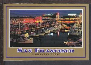 Fisherman's Wharf San Francisco CA Postcard BIN