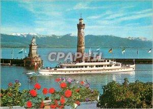 Postcard Modern Hafen Boat
