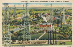 OKLAHOMA CITY, OK, 30-40s ; Governor's Mansion & State Owned Oil Wells