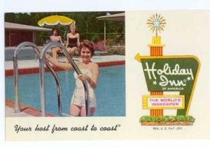 Advertising Card for Holiday Inn ,Jacksonville, Florida, FL, Chrome