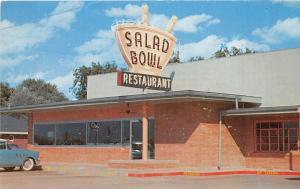 Arkansas AR Postcard Chrome Roadside THE SALAD BOWL Restaurant Gift Shop