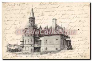 Old Postcard Autun Le Chateau Du Petit Montjeu