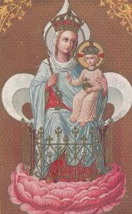 Virgin Mary & Jesus Notre Dame Antique French Religious Postcard