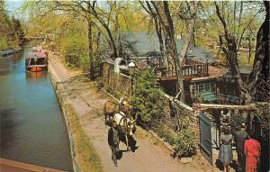 New Hope Pennsylvania~Mechanic Street @ Canal~Tow Path House~Mules Pulling Boat