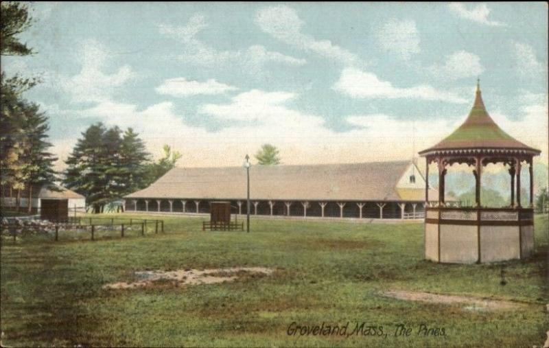 Groveland MA The Pines c1910 Postcard