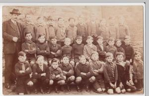 Social History; Cornwall, Mount Charles School Class Portrait RP PPC, c 1923