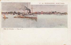 Rade de COLOMBO , Ceylon , 1901-07 ; Ship in Harbor