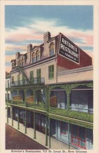 Antoines Restaurant 713 Saint Louis Street New Orleans Louisiana