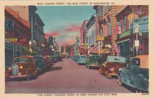 Virginia Winchester Loudon Street The Main Street Of Winchester