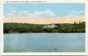 View of Soo-Nipi Park Lodge - Lake Sunapee NH, New Hampshire - WB