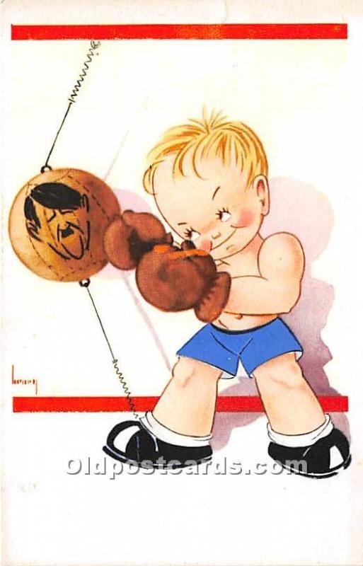 Cartoon Boxer Boxing Unused