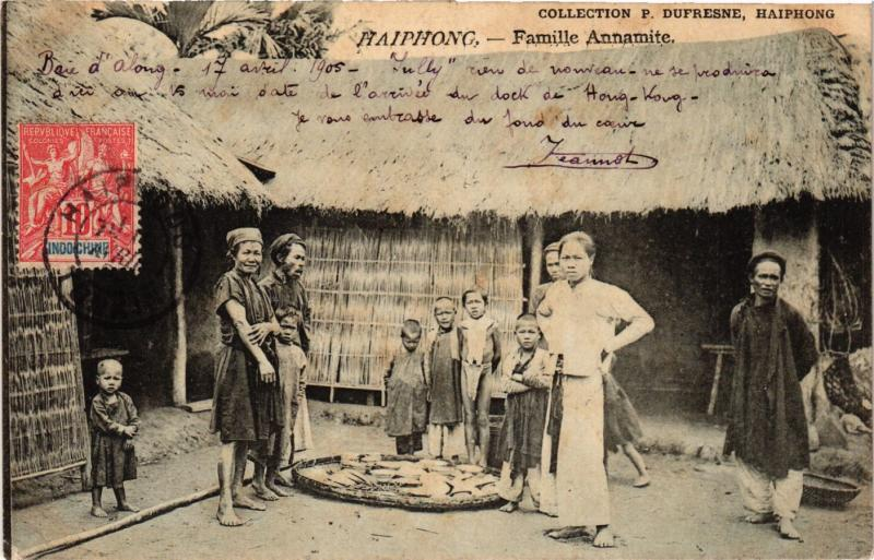 CPA Haiphong Famille Annamite VIETNAM-INDOCHINA (840855)