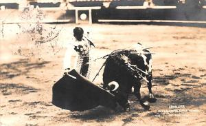 Mexico Old Vintage Antique Post Card Armilita, Bull 1935, Real Photo