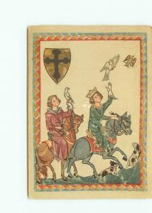 Postcard Konig Konrad Der Junge Konradin Printed Germany Royalty Dove  # 4039A