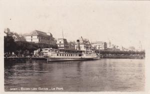 RP: EVIAN-les-Bains , France, 30-40s ; Steamship - Le Port