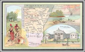 Arkansas Youth's Companion Map c1891