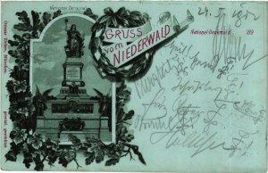 CPA AK Rudesheim Gruss vom Niederwald GERMANY (895383)
