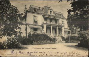 Nyon Switzerland Pensionnat de Tatiana 1905 Used Postcard