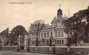 University College, Cardiff, Wales, early postcard