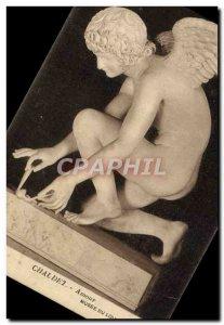 Old Postcard Love Chaudet Musee Du Louvre Paris