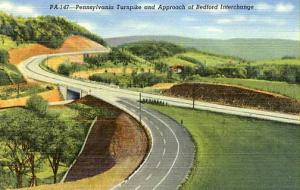 PA - Pennsylvania Turnpike  Approach of Bedford Interchange